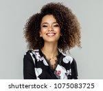 beautiful african american... | Shutterstock . vector #1075083725