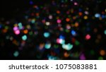 bokeh lights for party  holiday ... | Shutterstock . vector #1075083881
