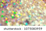 bokeh lights for party  holiday ... | Shutterstock . vector #1075083959