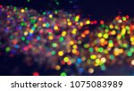 bokeh lights for party  holiday ... | Shutterstock . vector #1075083989