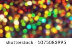 bokeh lights for party  holiday ... | Shutterstock . vector #1075083995