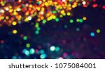 bokeh lights for party  holiday ... | Shutterstock . vector #1075084001