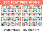 flat web icons | Shutterstock .eps vector #1075086275