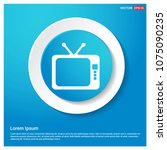 tv icon abstract blue web... | Shutterstock .eps vector #1075090235