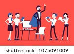 office hero admired by... | Shutterstock .eps vector #1075091009