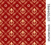 floral pattern. vintage... | Shutterstock .eps vector #1075094981