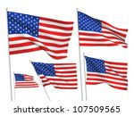 United States  Usa Vector Flag...