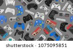 video game controller... | Shutterstock .eps vector #1075095851