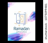 ramadan kareem vector... | Shutterstock .eps vector #1075099481
