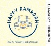 ramadan kareem vector... | Shutterstock .eps vector #1075099541