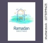 ramadan kareem vector... | Shutterstock .eps vector #1075099625