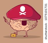 brain character dressed as a... | Shutterstock .eps vector #1075101731