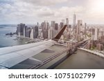 aerial view of lower manhattan  ... | Shutterstock . vector #1075102799