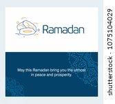 ramadan kareem vector... | Shutterstock .eps vector #1075104029