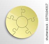 puzzle five piece business... | Shutterstock .eps vector #1075104317