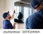 furniture delivery service... | Shutterstock . vector #1075104464