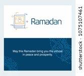 ramadan kareem vector... | Shutterstock .eps vector #1075107461