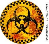 computer virus  hacker alert...   Shutterstock .eps vector #1075107995