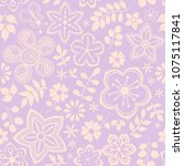 vector floral pattern with... | Shutterstock .eps vector #1075117841