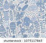 vector forest design  floral... | Shutterstock .eps vector #1075117865