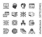programming icon set | Shutterstock .eps vector #1075119401