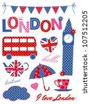 London Scrapbook Elements In...