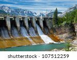 Dam Of Hydroelectric Power...
