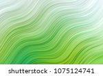 light green vector pattern with ... | Shutterstock .eps vector #1075124741