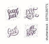 good luck. all the best. best...   Shutterstock .eps vector #1075130771