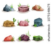 rock stones set  colorful...