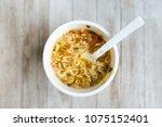 instant noodles  noodle soup in ... | Shutterstock . vector #1075152401