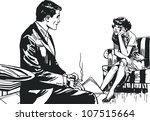 vintage illustration  isolated...   Shutterstock . vector #107515664