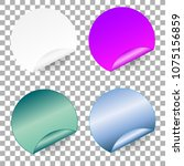 set of round paper adhesive...   Shutterstock .eps vector #1075156859