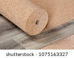 natural cork substrate in a... | Shutterstock . vector #1075163327