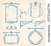 vector hand drawn collection of ... | Shutterstock .eps vector #1075165754