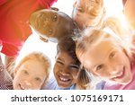 portrait of happy kids in... | Shutterstock . vector #1075169171