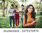 portrait asian young teen... | Shutterstock . vector #1075170974