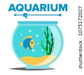 aquarium cartoon vector. fish... | Shutterstock .eps vector #1075172027