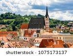 view of city cesky krumlov ... | Shutterstock . vector #1075173137