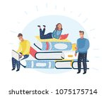 vector cartoon illustration of... | Shutterstock .eps vector #1075175714