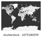 world map in four shades of... | Shutterstock .eps vector #1075180559