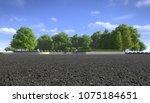 empty asphalt street with... | Shutterstock . vector #1075184651