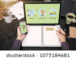 marketing branding retail... | Shutterstock . vector #1075184681