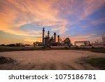 gas turbine electrical power...   Shutterstock . vector #1075186781