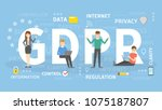 gdpr concept illustration. idea ... | Shutterstock .eps vector #1075187807