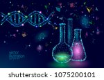 low poly science chemical glass ... | Shutterstock .eps vector #1075200101