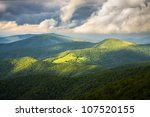 Appalachian Trail at Roan Mountain State Park Blue Ridge Mountains Tennessee scenic landscape photography - stock photo
