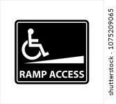 ramp access icon  access icon   ... | Shutterstock .eps vector #1075209065