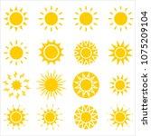 sun icon collection  vector art ... | Shutterstock .eps vector #1075209104