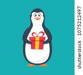 funny penguin  antarctic bird ... | Shutterstock .eps vector #1075212497